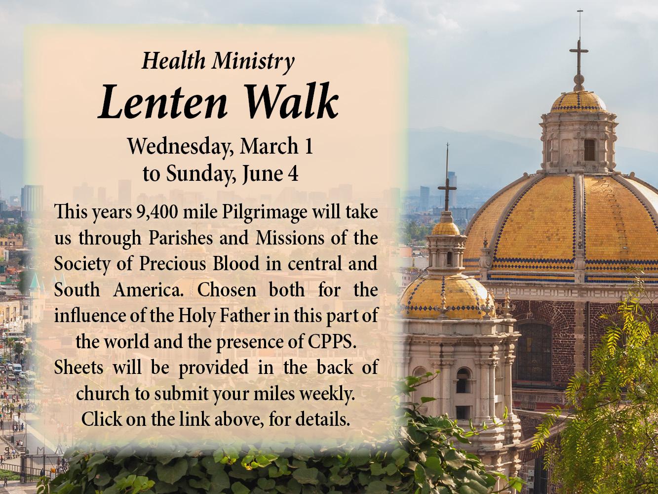 Lenten Walk 2017