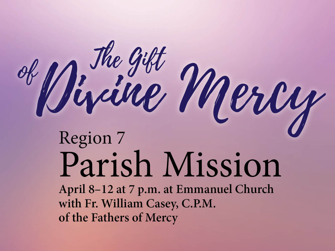 Parish Mission 2018