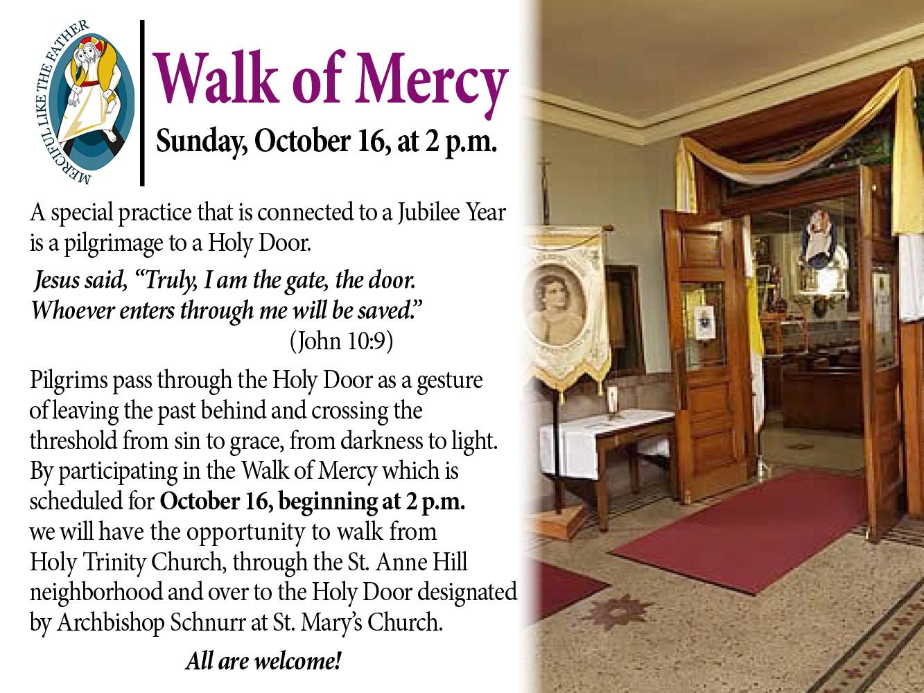 Walk of Mercy - New slider